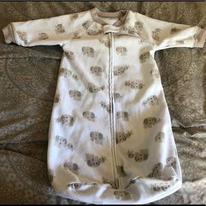 Carter's Elephant Baby Kids One Piece PJ 0-9M EUC